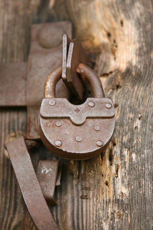 Vintage padlock stock images