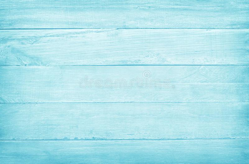 Vintage painted wooden wall background, texture of blue pastel color with natural patterns for design art work.  royalty free stock photo