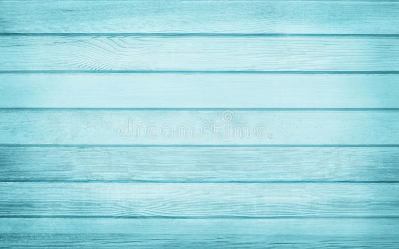 Vintage painted wooden wall background, texture of blue pastel color with natural patterns for design art work.  stock photography