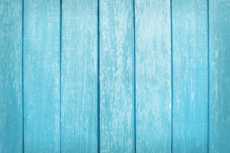 Vintage painted wooden wall background, texture of blue pastel color with natural patterns for design art work royalty free stock photography