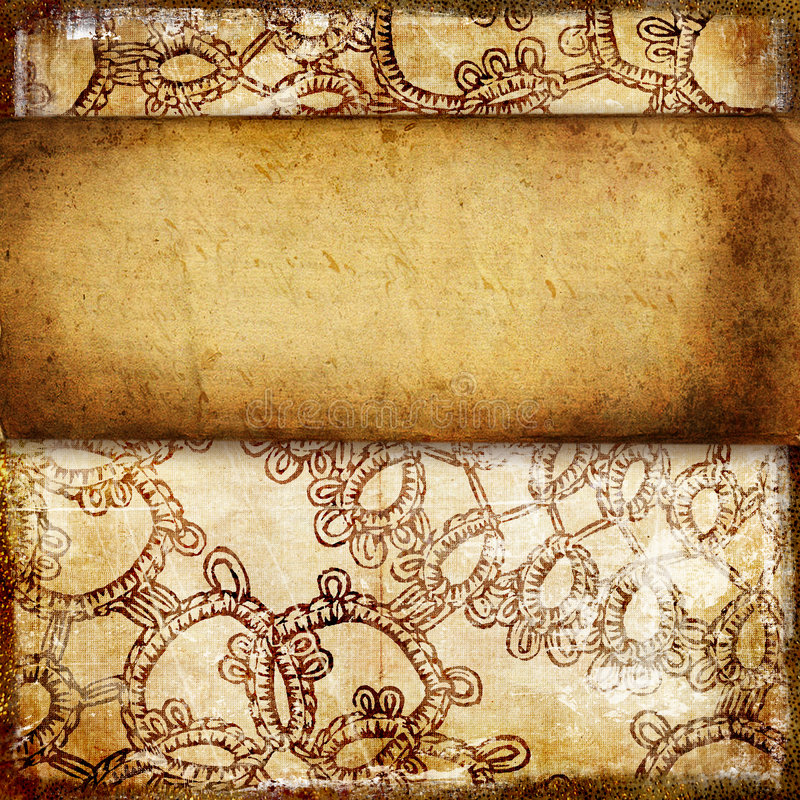 Vintage paper background. With place for text royalty free illustration