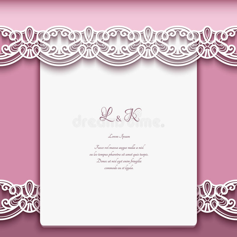 Vintage Paper Background With Lace Borders Stock Vector