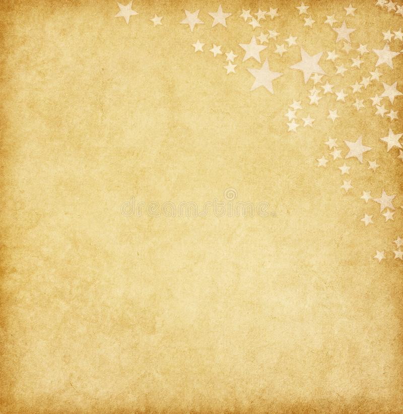 Vintage paper decorated with stars stock photos