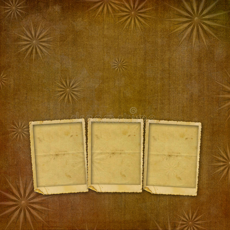 Vintage paper with grunge frames for photos royalty free illustration