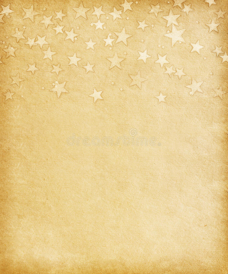 Vintage paper with grunge stars stock photos