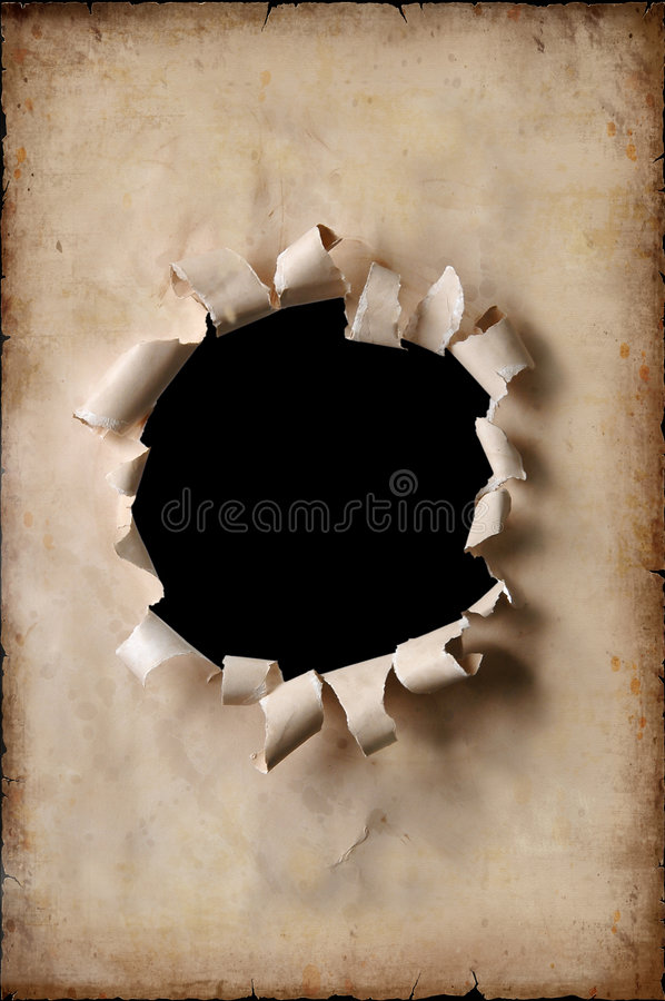Vintage Paper With Hole stock image
