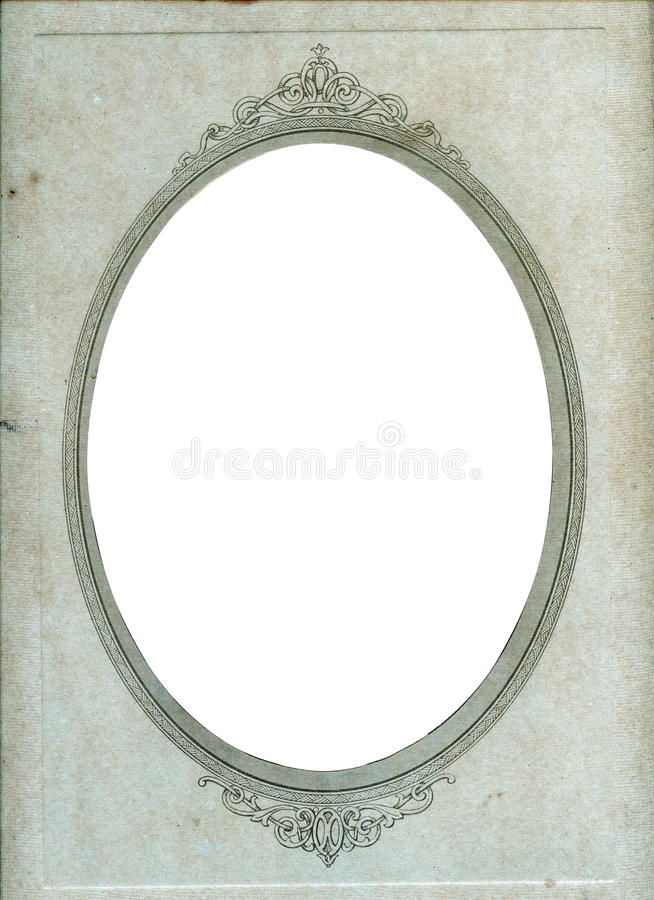 Vintage paper photo frame royalty free stock images