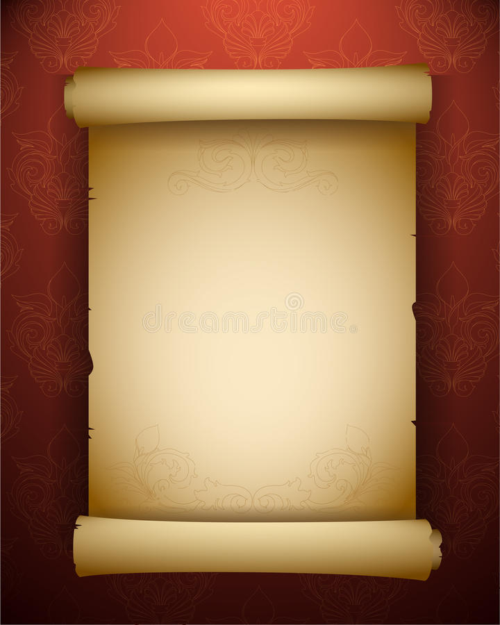 Antique Scroll Paper: Vintage Paper Scroll Stock Vector. Illustration Of