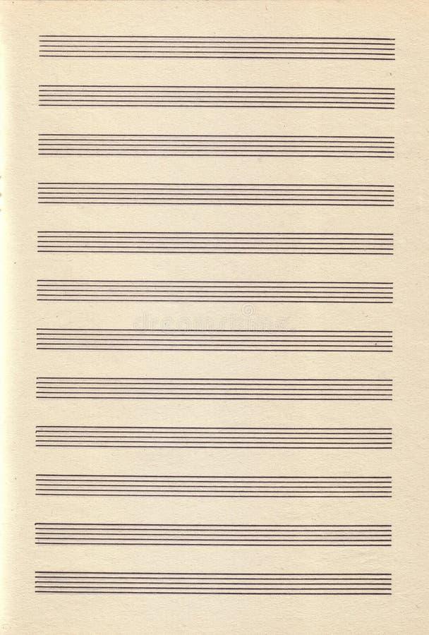 Vintage Paper Sheet. Music Rare stock image