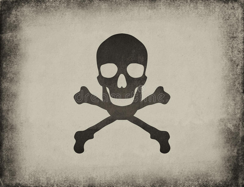 Download Vintage paper with a skull stock image. Image of paper - 23043941