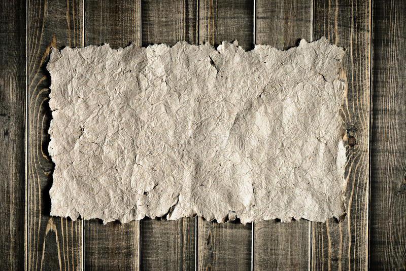 Vintage paper on wood texture royalty free stock images