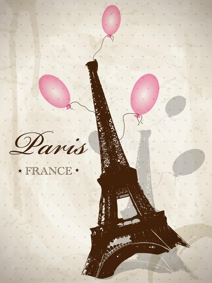 Vintage Paris vector illustration