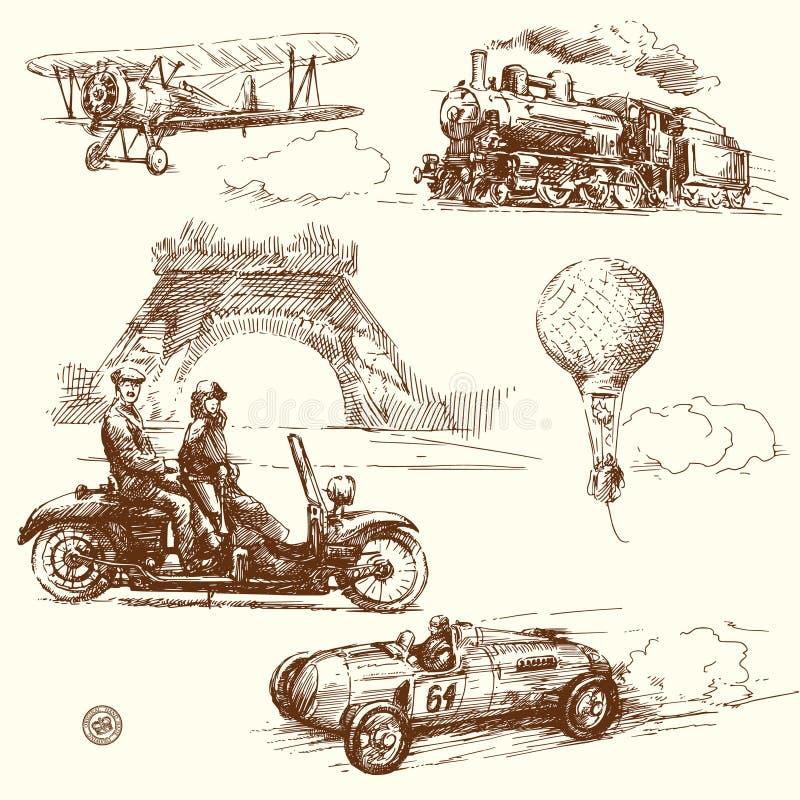 Vintage Paris ilustração stock