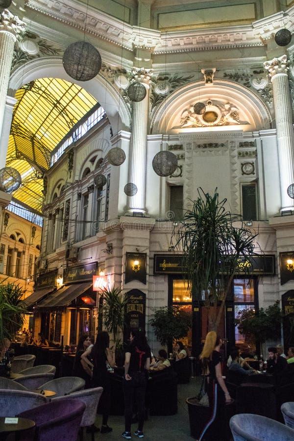 Vintage passage in Bucharest, Romania stock photography