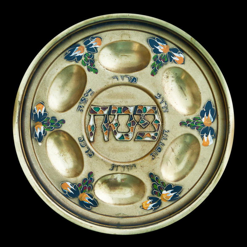 Free Vintage Passover Seder Plate Royalty Free Stock Photography - 27541717