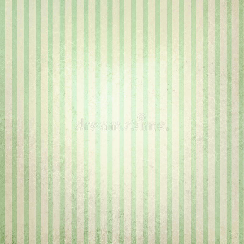 Download Vintage Pastel Green And Beige Striped Background Stock Image