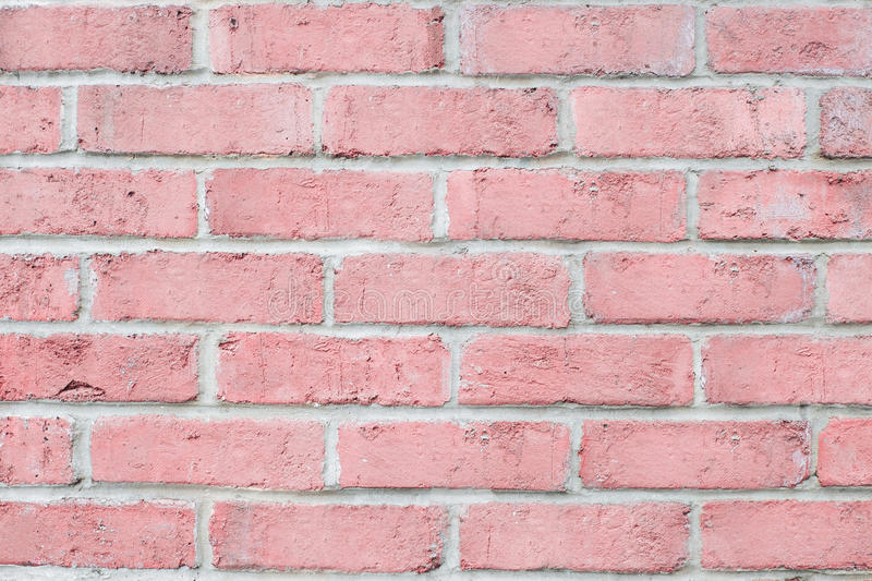Vintage pastel pink color brick wall horizontal clean background for design stock photo - Pastelltone wand ...