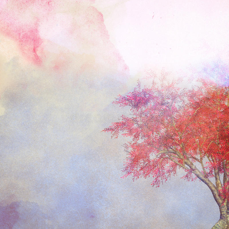 Vintage pastel watercolor paper royalty free stock photography