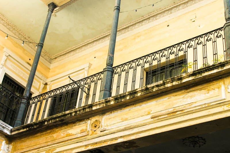 Vintage Patio Ancient Balaustrade Porch royalty free stock image