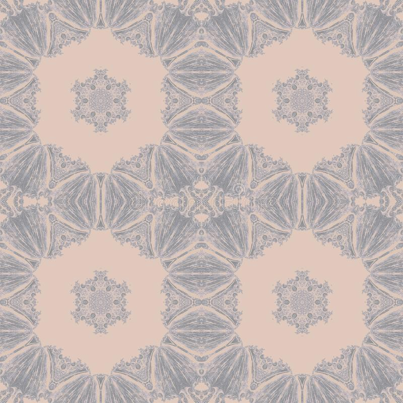 Vintage pattern abstract symmetry kaleidoscope. ornament modern. Vintage pattern abstract symmetry kaleidoscope background art. ornament modern royalty free illustration