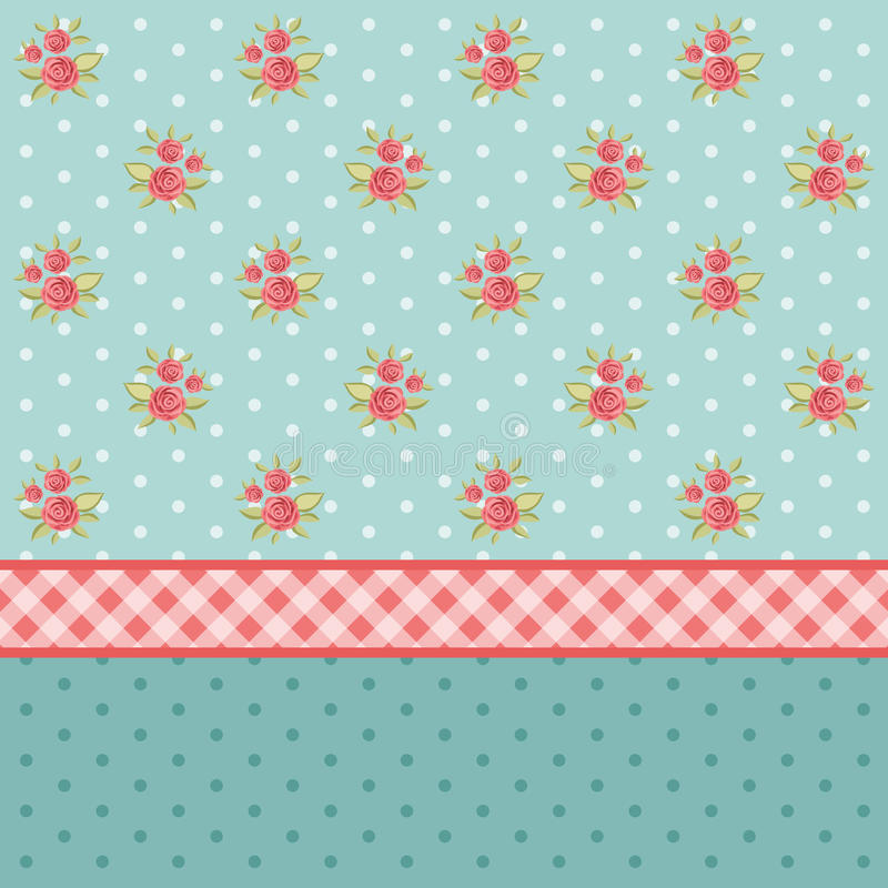 Vintage pattern 6. Vintage floral patterns with roses in shabby chic style as wallpaper