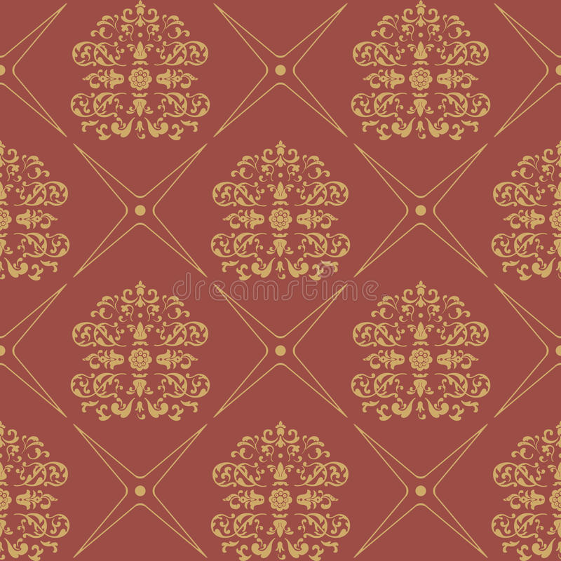 Vintage pattern seamless baroque style vector illustration