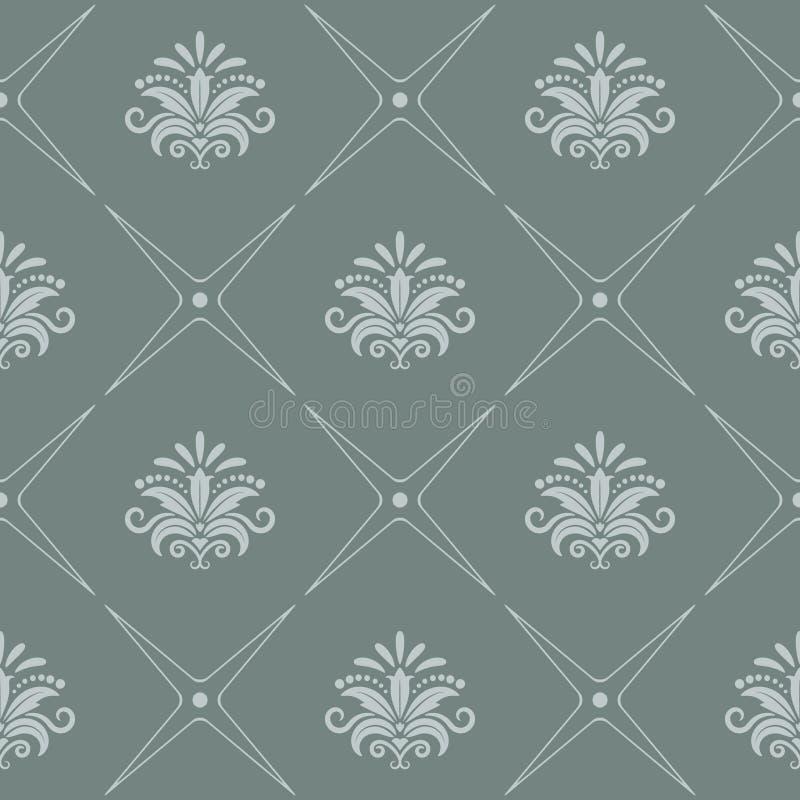 Vintage pattern seamless baroque style royalty free illustration