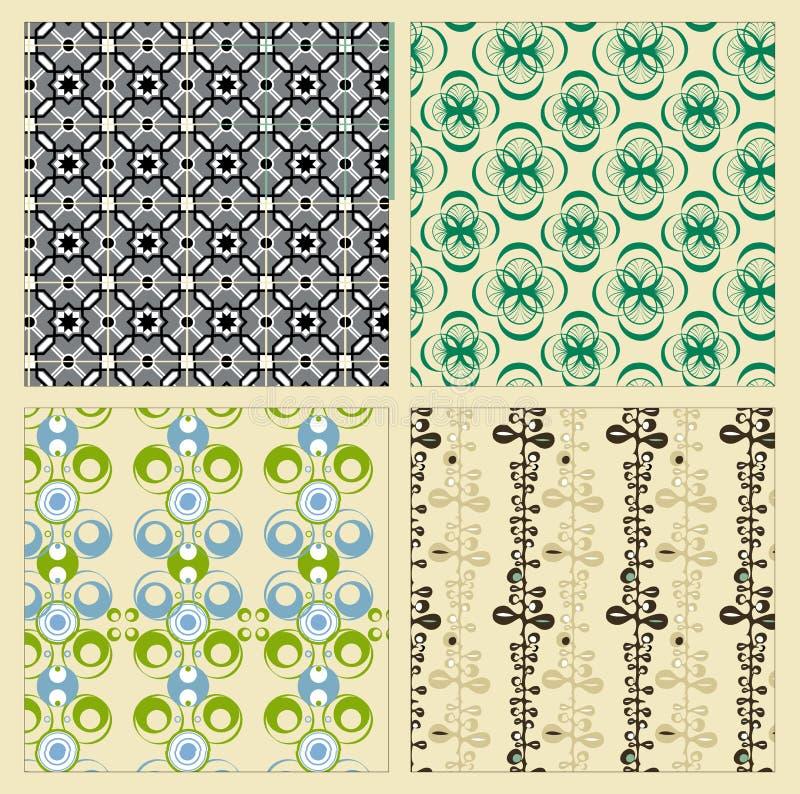 Vintage patterns. Various vintage patterns as images vector illustration