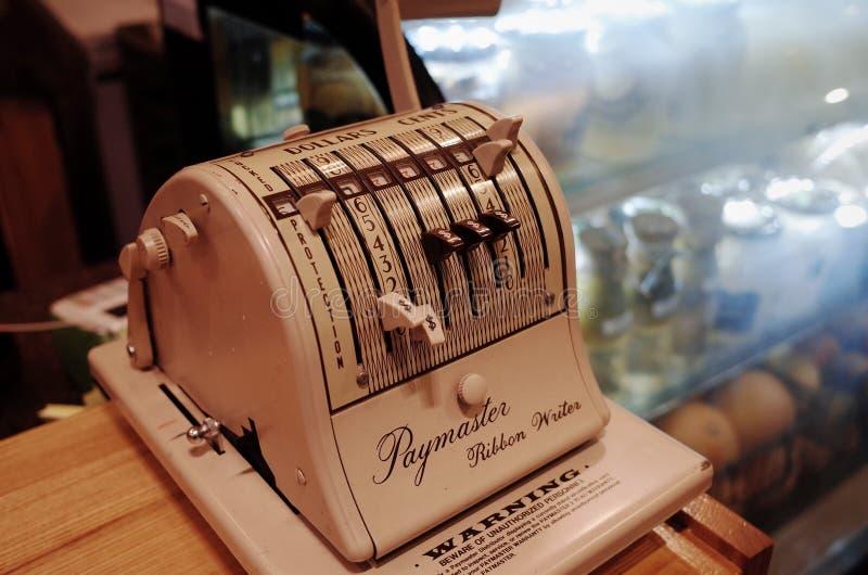 Vintage Paymaster Machine Free Public Domain Cc0 Image