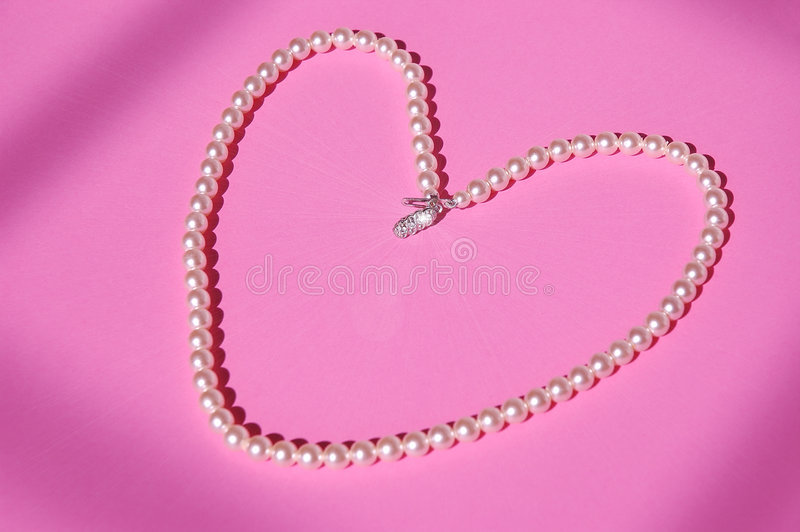 Download Vintage Pearls stock image. Image of heart, jewelry, clasp - 214493