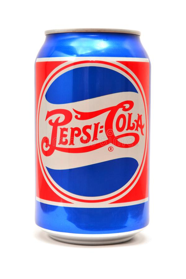 Vintage pepsi cola can stock image