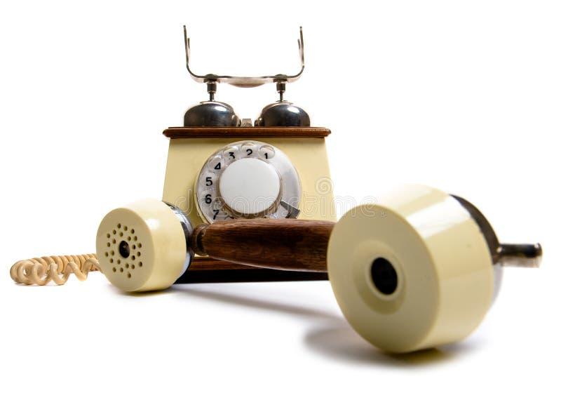 Vintage phone. Isolated on white royalty free stock photo