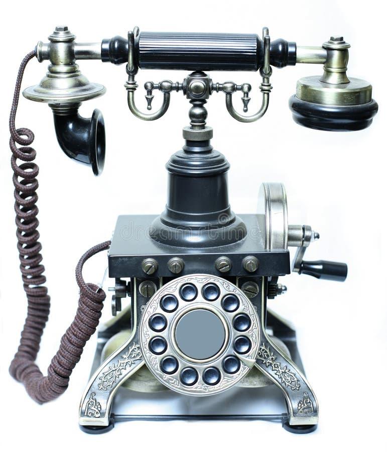 Vintage phone. On white background royalty free stock photos