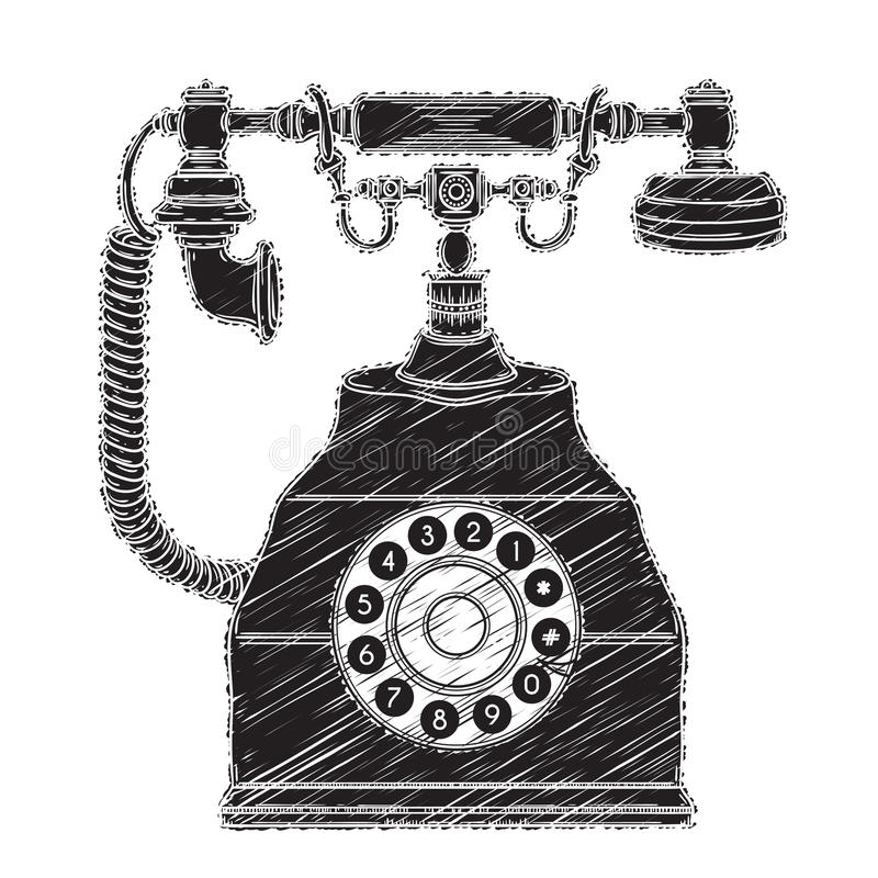 Vintage phone. stock illustration