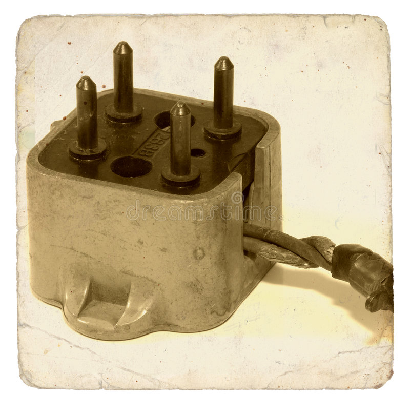 Download Vintage Phone Plug stock photo. Image of prong, connection - 141152