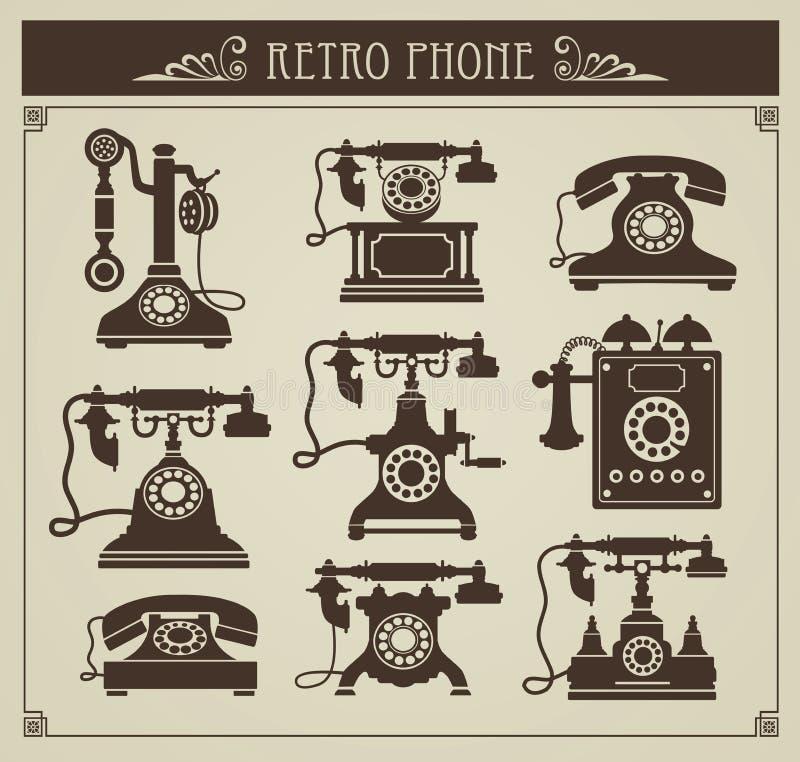 Vintage phones vector illustration