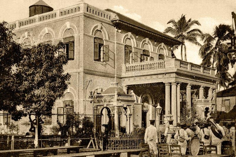 Vintage photo-Albless Baug,Hall for Parsi Wedding Ceremony Bombay royalty free stock photos
