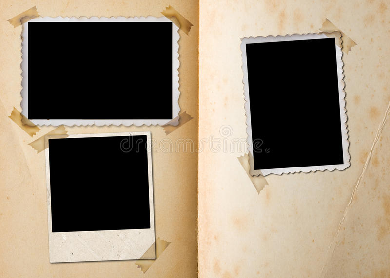 Vintage photo album. royalty free stock photography