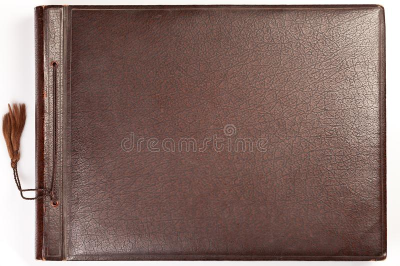 Vintage Photo Album Cover stock photos
