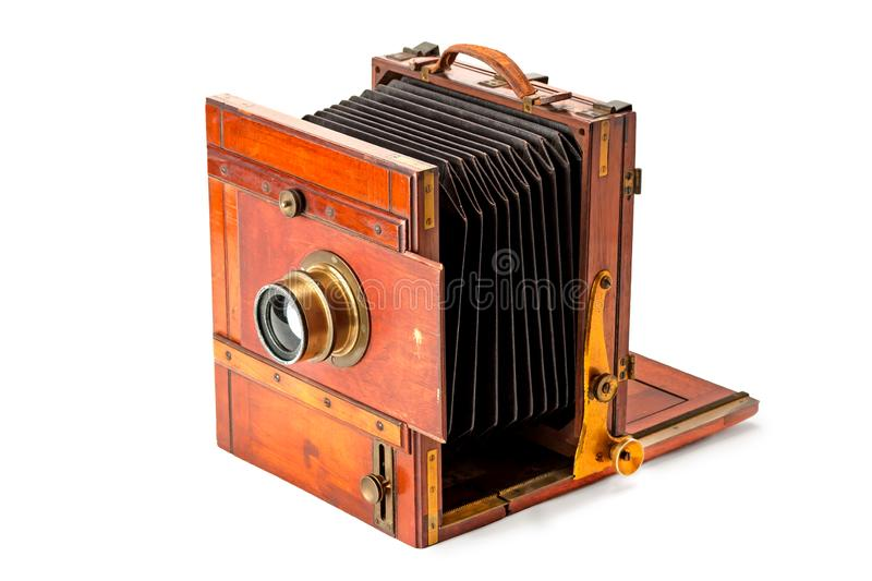 Vintage photo-camera. Isolated on white background royalty free stock photography
