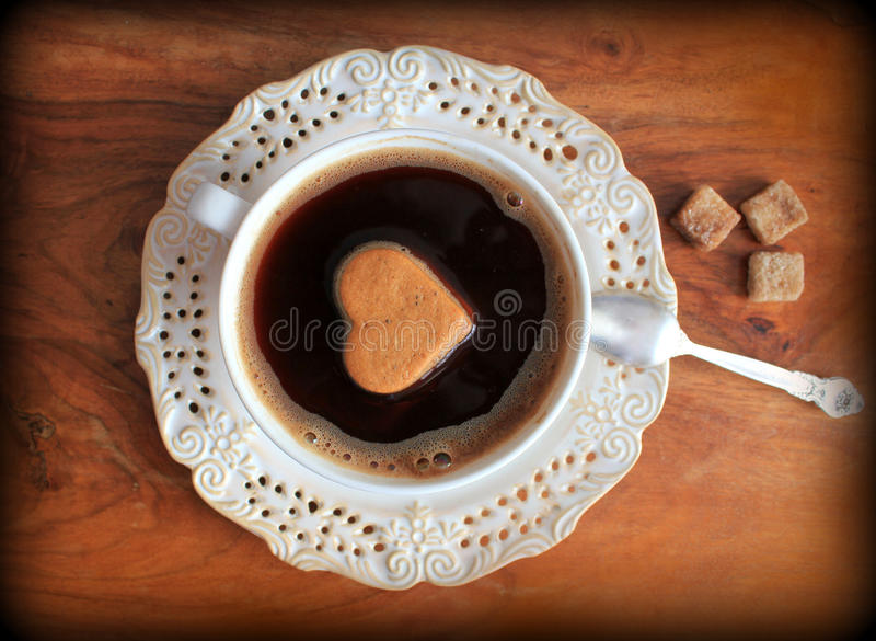 Vintage photo of coffee cup stock photos