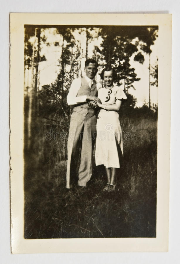 Vintage Photo of a Couple royalty free stock image