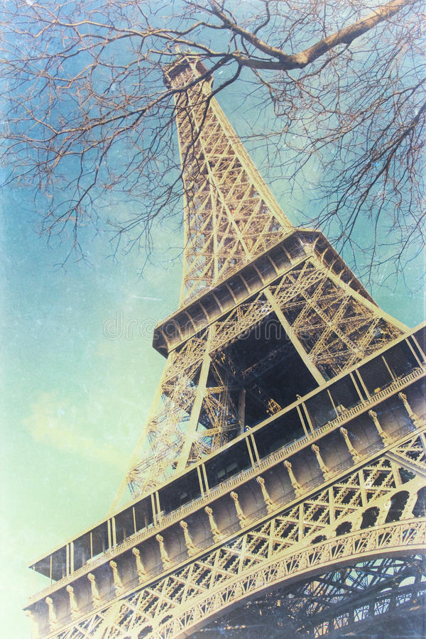 Vintage Photo Of Eiffel Tower Royalty Free Stock Photography