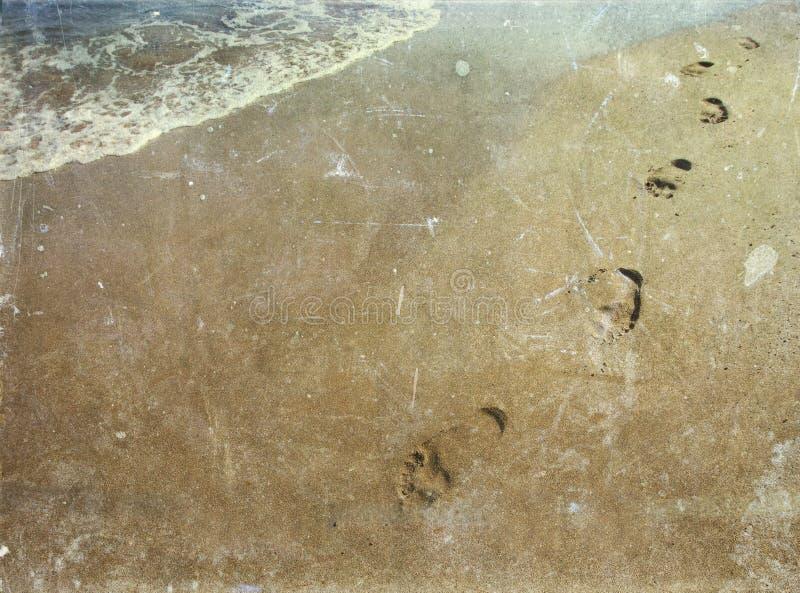 Vintage photo of footsteps