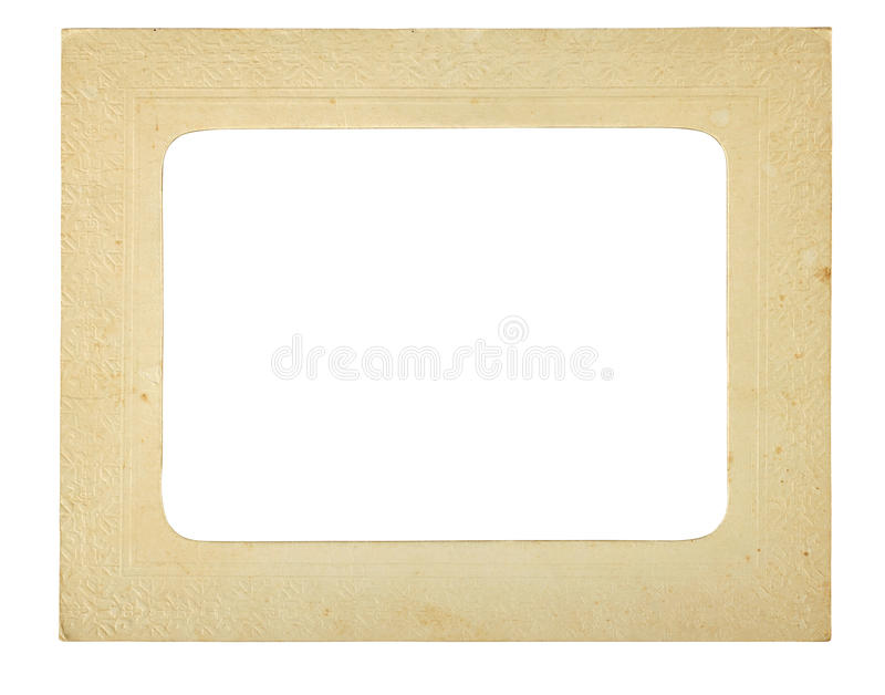 Vintage photo frame. Isolated on a white background. Clipping path included stock image
