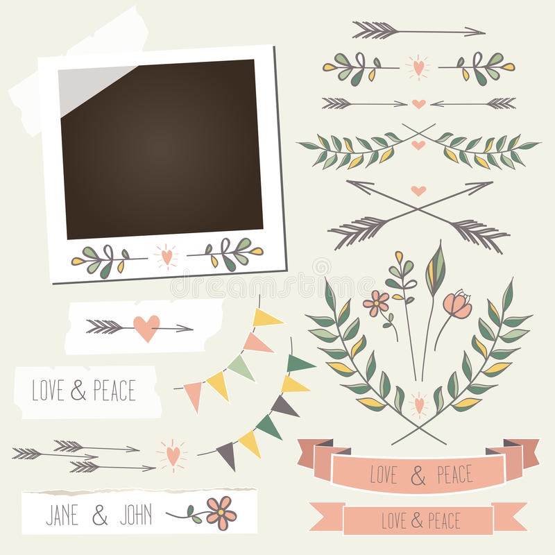Free Vintage Photo Frame With Flowers, Laurels, Wreaths, Royalty Free Stock Photo - 33917035