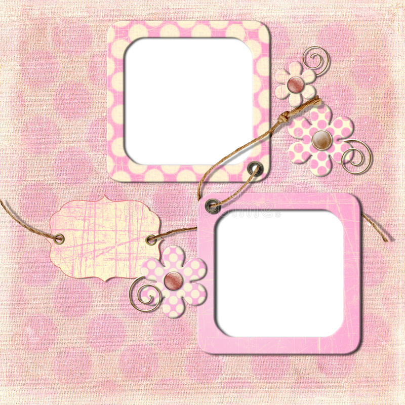 Download Vintage Photo Frames And Flowers Stock Illustration - Image: 18905763