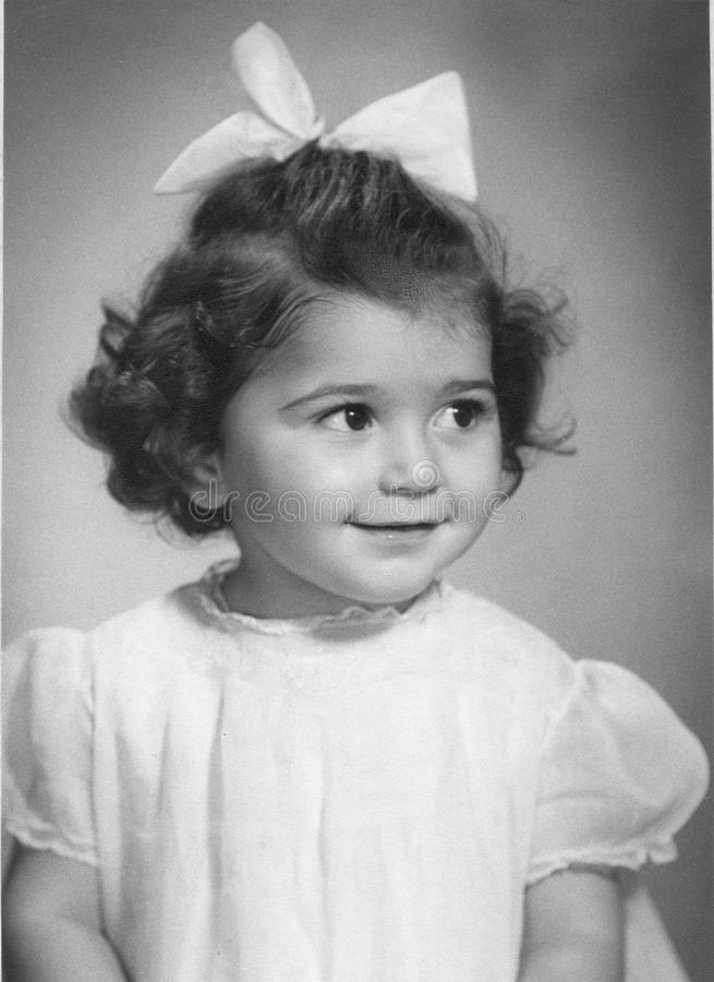 Free Vintage Photo Of A 3 Year Old Girl Royalty Free Stock Image - 21846556