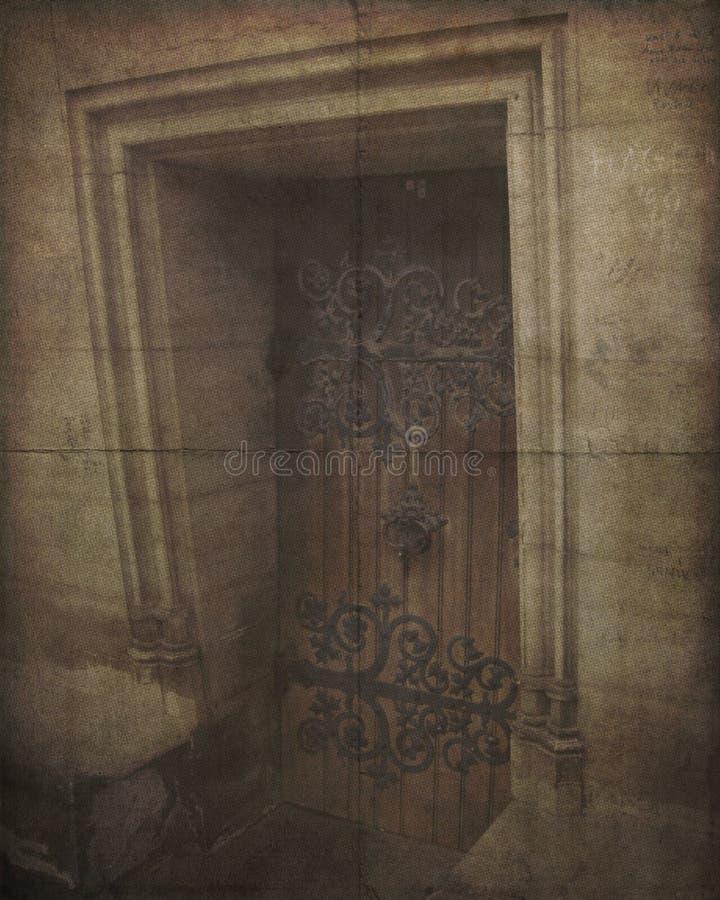 Vintage Photo of Old Weathered Door stock photos
