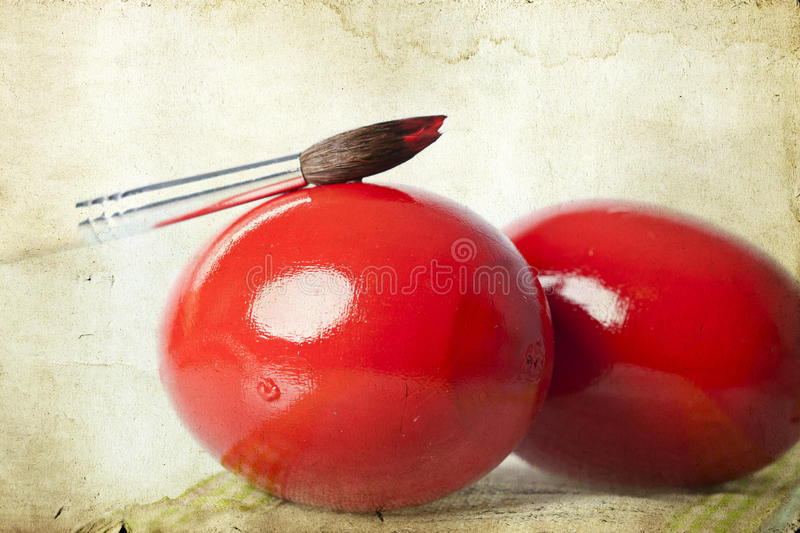 Download Vintage Photo Of Red Easter Eggs Stock Photo - Image: 38493580